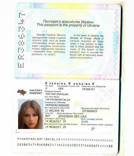 Example fake ladies passport check