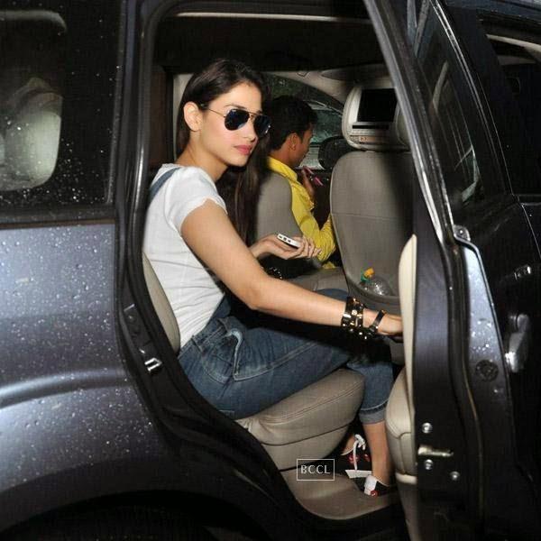 Tamannaah Bhatia snapped at a star hotel, in Mumbai, on July 30, 2014. (Pic: Viral Bhayani)