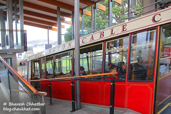 Wellington Cable Car platform at the Kelburn station