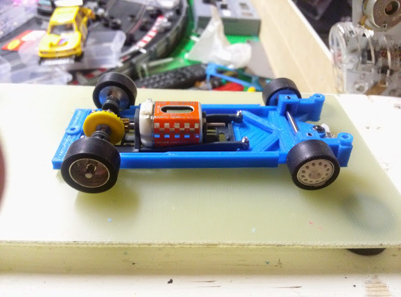 my first chassis 3d printed Spirit PEUGEOT 205 Ti - Slot Car