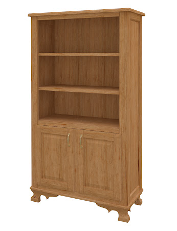 Prairie Wooden Door Bookshelf in Calhoun Maple