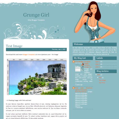 Grunge Girl,blogger,Templates for blogger