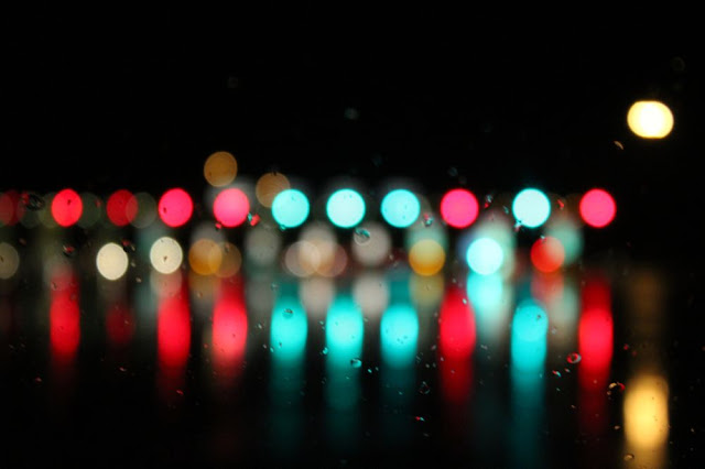 brightly-colored lights