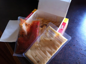 Ingredient sachets inside the Nachos to Go box
