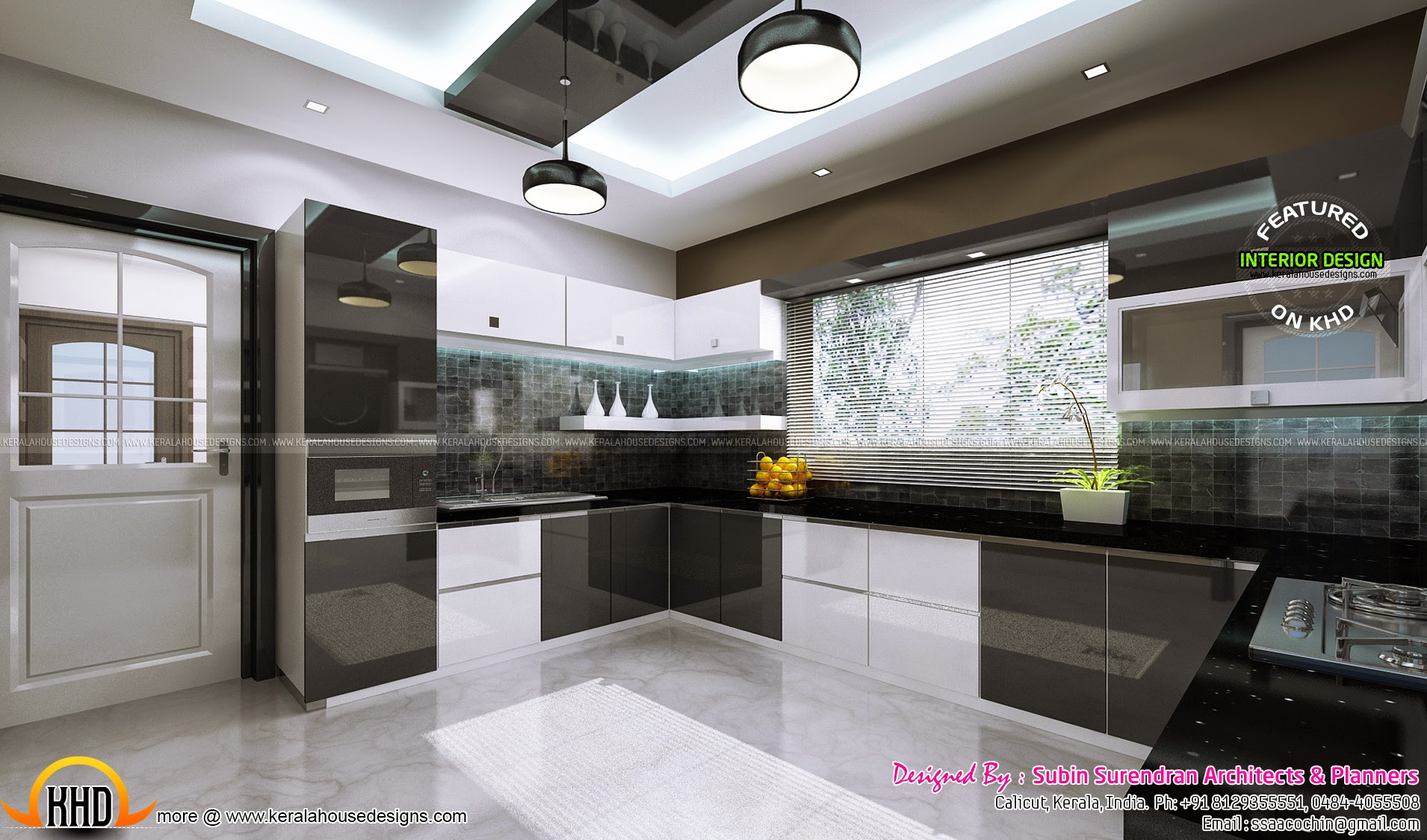 Interior bedroom kitchen dining kerala home design - Kitchen interior designs pictures ...