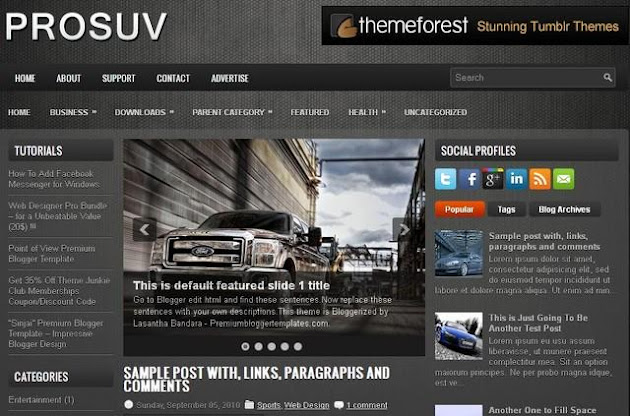 ProSUV Blogger Template