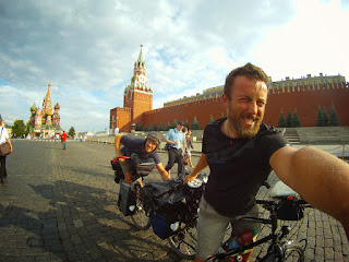 La place de rouge a Moscou. Autant vous dire que nous ne sommes pas passes inapercu