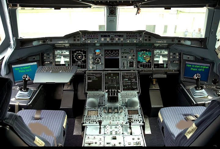 Кабина Airbas A380