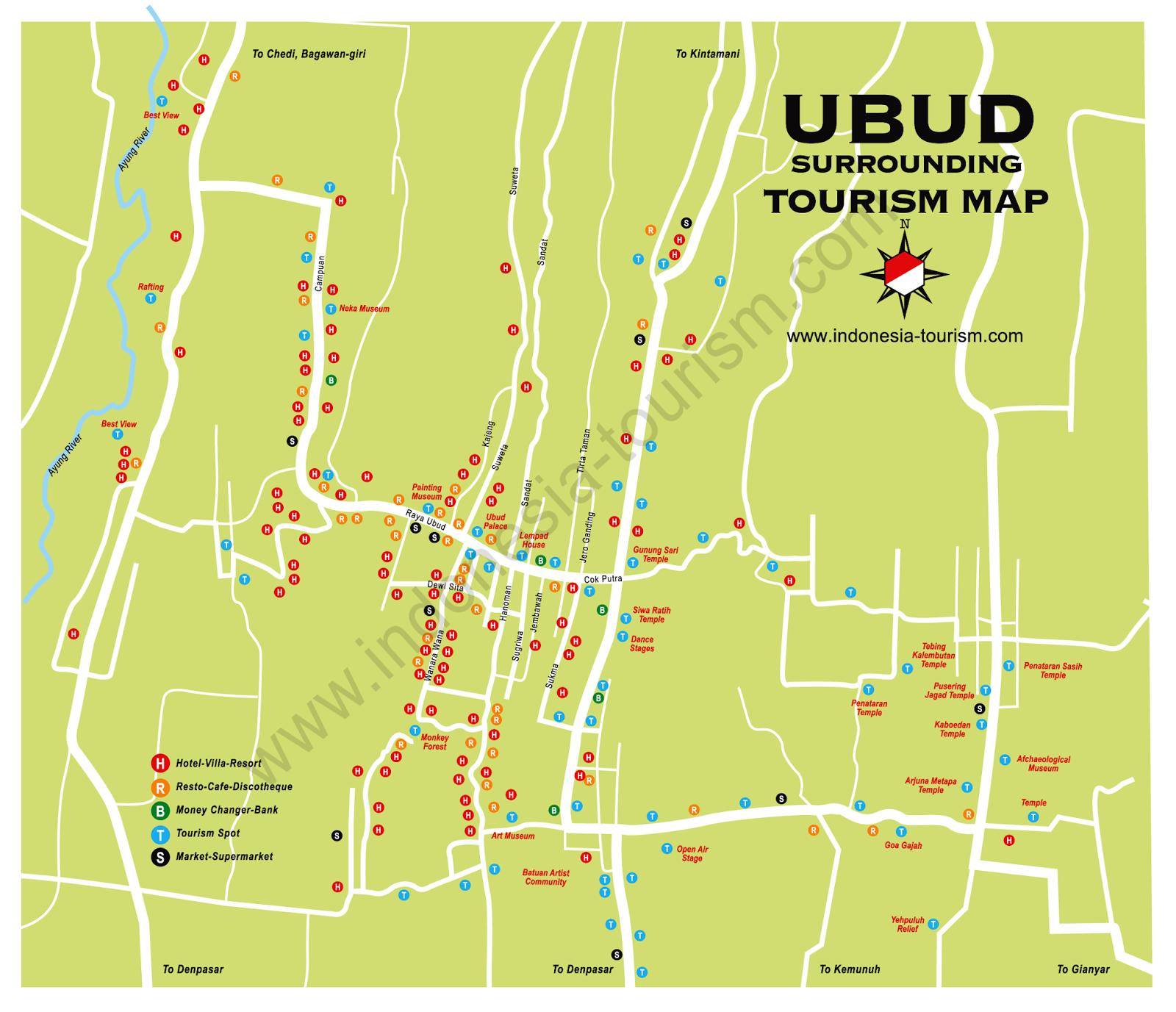 peta wisata bali selatan