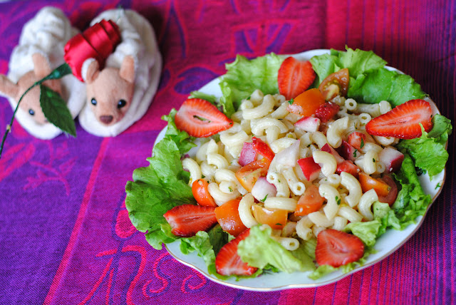 strawberry macaroni salad recipe by ServicefromHeart