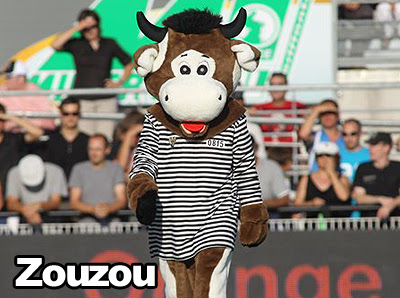 Mascotte rugby CA Brive