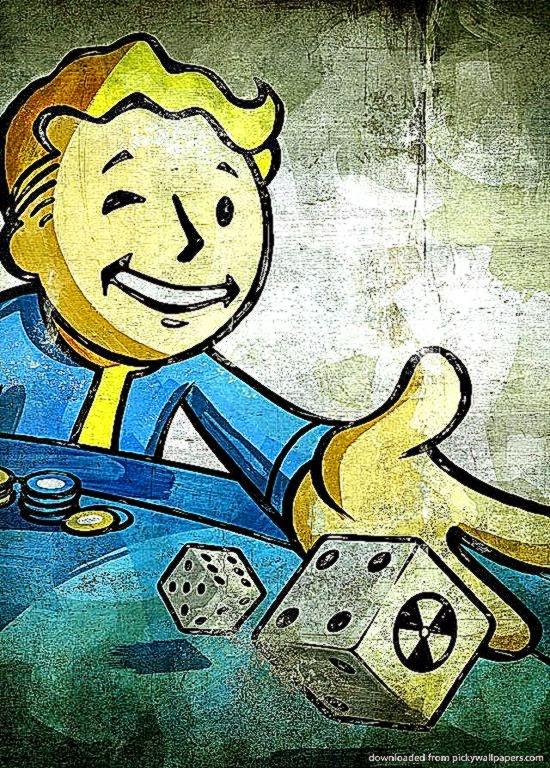 Download Fallout Gambling Wallpaper For iPhone 4