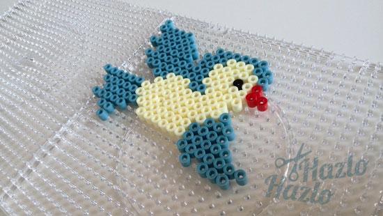 Pájaro hama beads