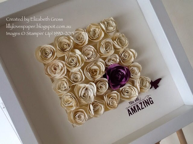 Lillybets papers rolled paper roses frames rolled paper roses frames mightylinksfo