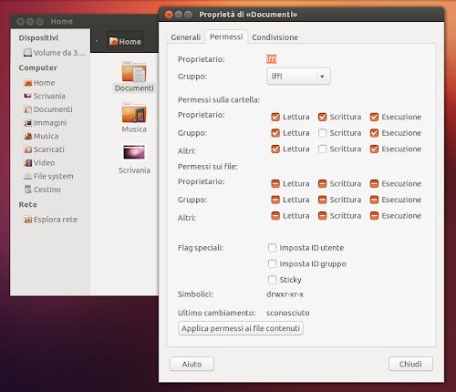 Ubuntu - attivare i permessi avanzati in Nautilus