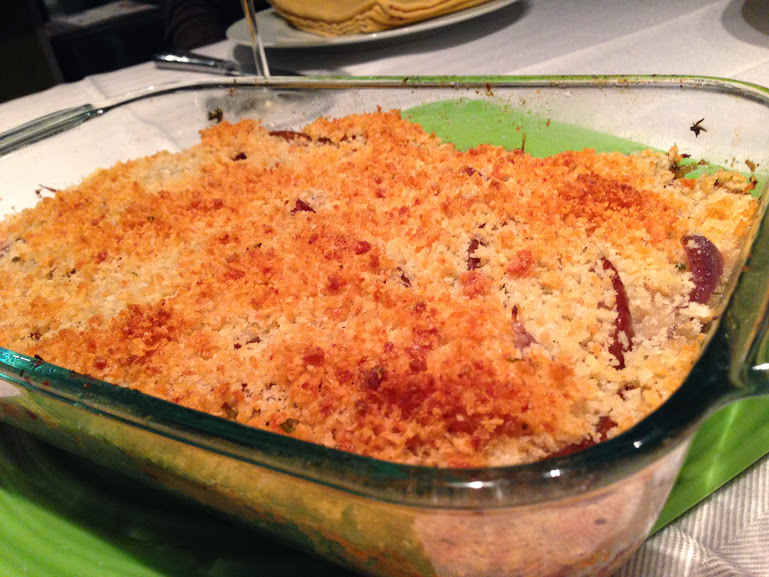 Pear & Red Onion Gratin