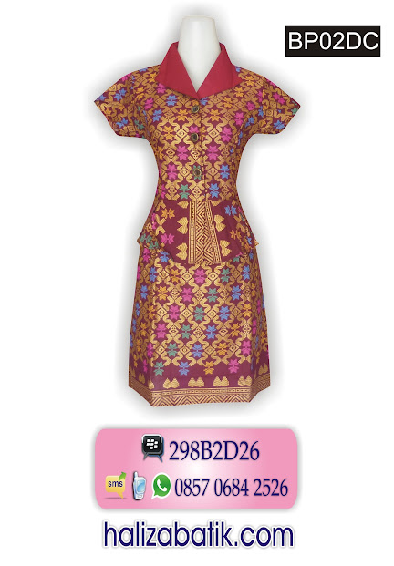 baju dress, batik dress, batik wanita