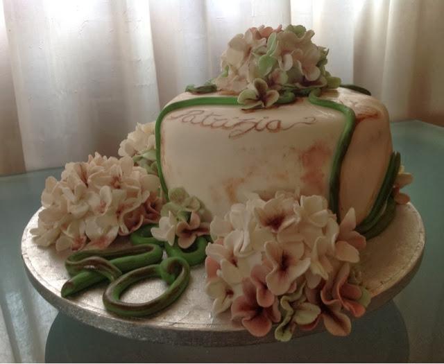 Le Pasticcione: Torta con ortensie