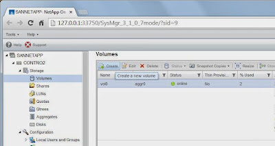 Crear volumen NAS para CIFS en SAN NetApp