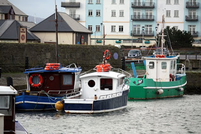 Carrickfergus harbor in Northern Ireland
