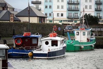 Carrickfergus harbor in Northern Ireland