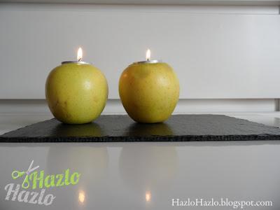 Cómo convertir manzanas en candelabros.