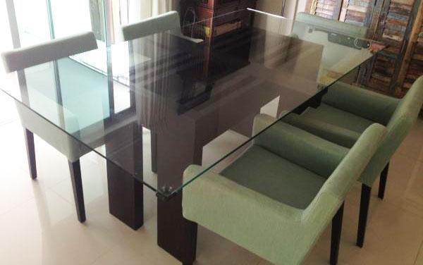 John erdos glass top table