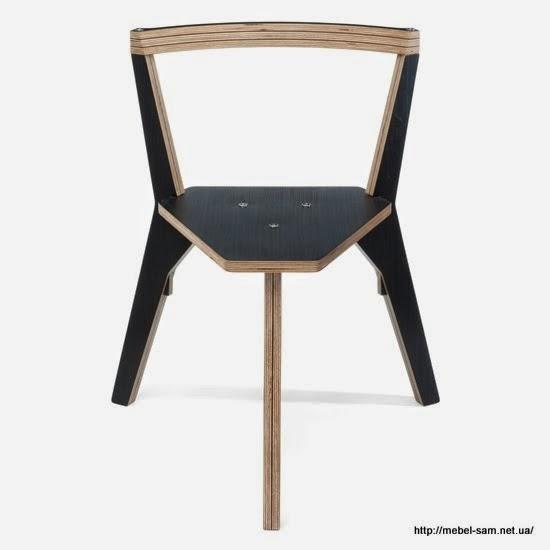 Трехногий стул из листовой ламинированной фанеры
