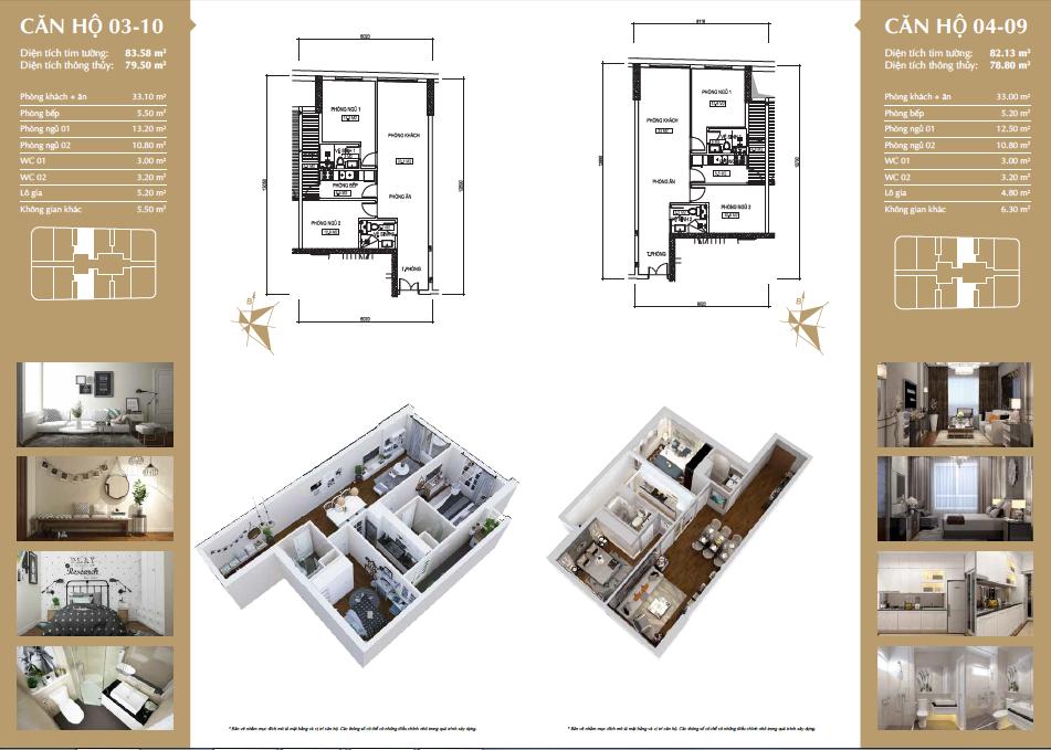 Thiết kế căn hộ 03-10 & 04-09
