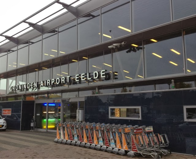 Picture of the terminal. Groningen Airport Eelde.