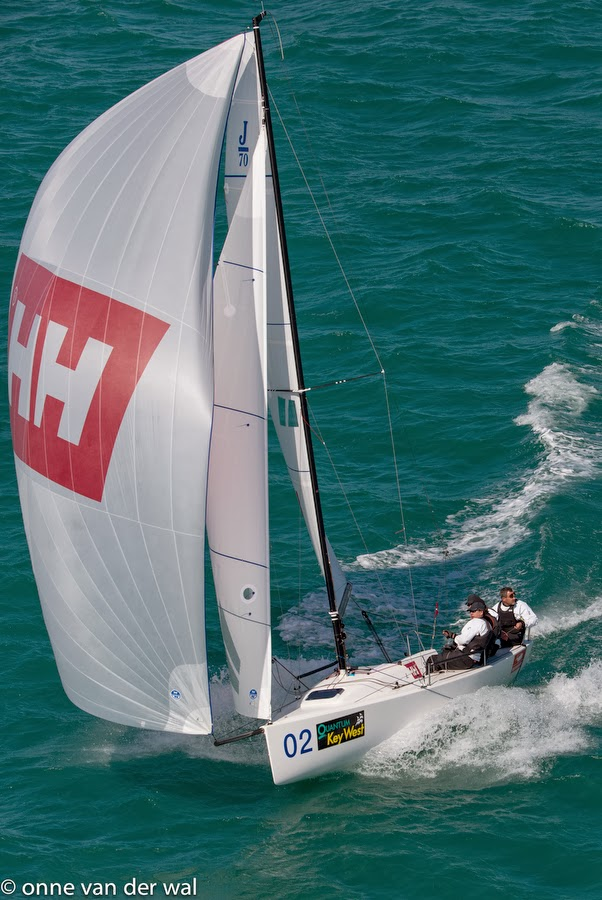 J/70 class leader- Tim Healy on Hellly Hansen