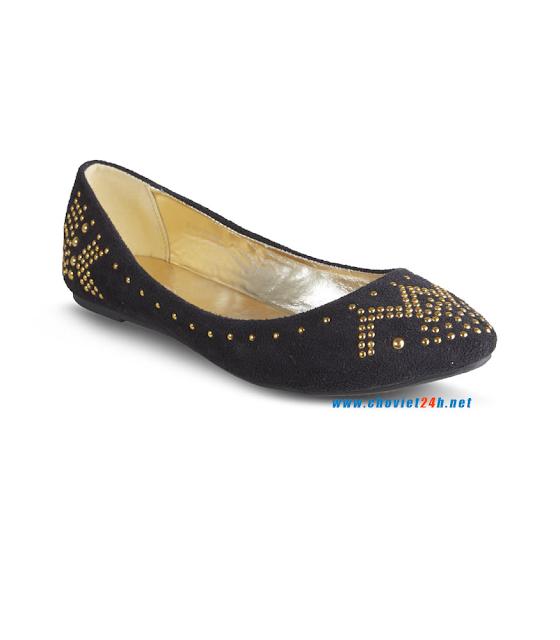 Giày búp bê thời trang Sophie Velvet Black