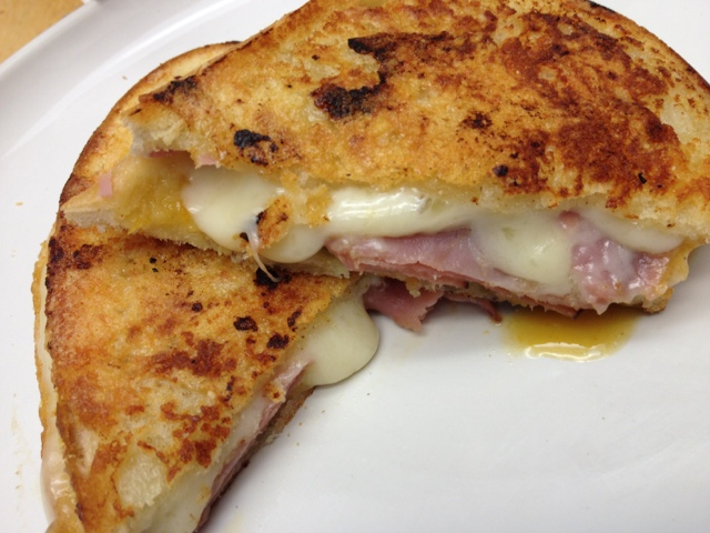 ... Dinner With My Family: Inside Out Grilled Ham and Cheese Sandwiches