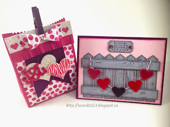 Linda Vich Creates: Valentine Round Up.Valentine card and Mini Treat Bag.