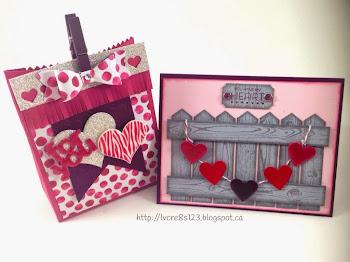 Linda Vich Creates: Valentine Round Up.Valentine card and Mini Treat Bag.