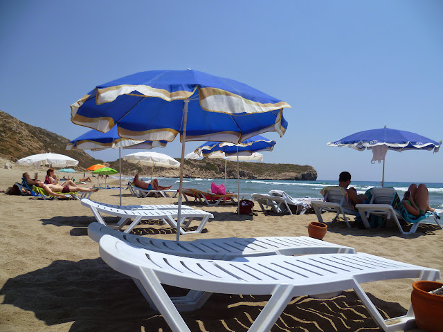 Patara Beach, within the designated sunbathing area