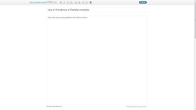 menu wordpress pantalla completa