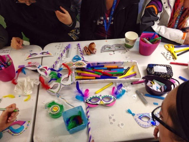 Mardi gras masquerade diy birthday ideas kids parties for Michaels crafts birthday parties