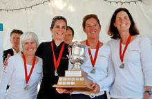 Cathy Shaw's winning J/22 Canadian women's team