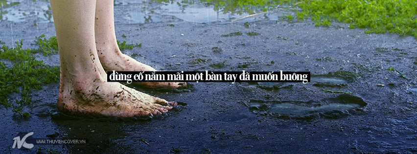 Facebook Cover Buông Tay người tôi yêu