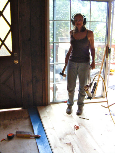 ... Manual Flooring Nailer · Then I Would Prep Pre Cut Planks And She Would  Tack Them Down We Pletely Finished ...