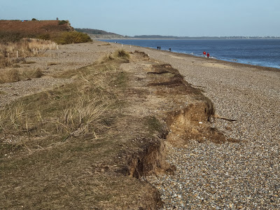 A spit of dune is all that remains on the north side of Minsmere