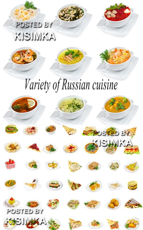 Stock Photo: Variety of Russian cuisine
