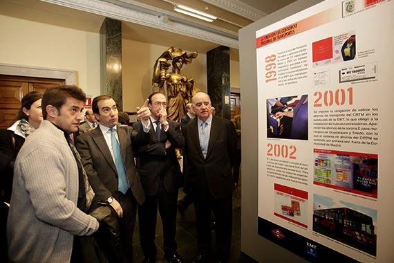 Exposición sobre los 150 años de historia del billete de transporte en Madrid
