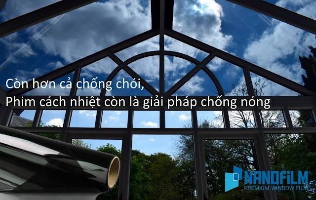 Dán kính chống nắng mái đón, giếng trời tại Đồng Nai