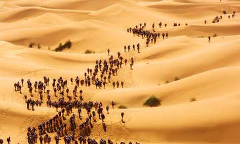Marathon des sables, desierto