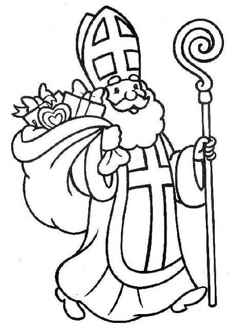 Saint Nicholas Printable Coloring Pages St Nicholas Coloring Page