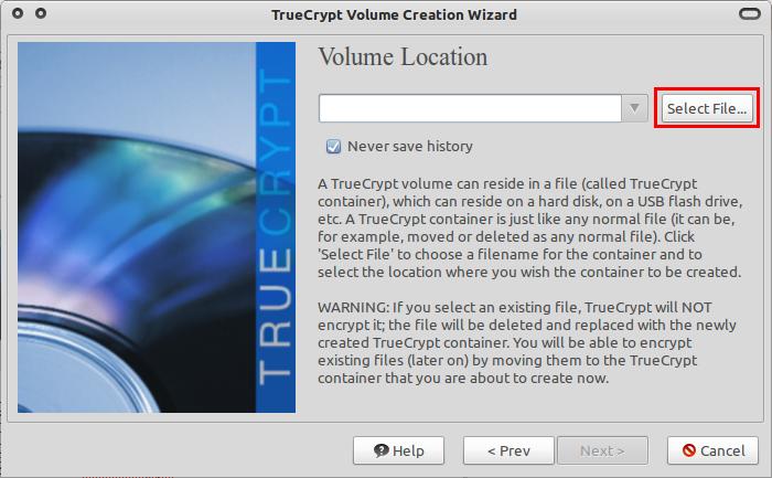 Tentukan nama file container yang akan dibuat