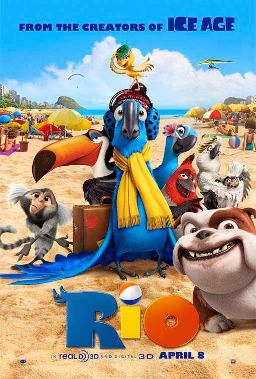 Poster Of Rio (2011) Full Movie Hindi Dubbed Free Download Watch Online At Alldownloads4u.Com