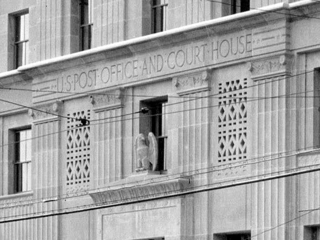 Baton Rouge, LA: Old Post Office and U.S. Courthouse detail, 1933